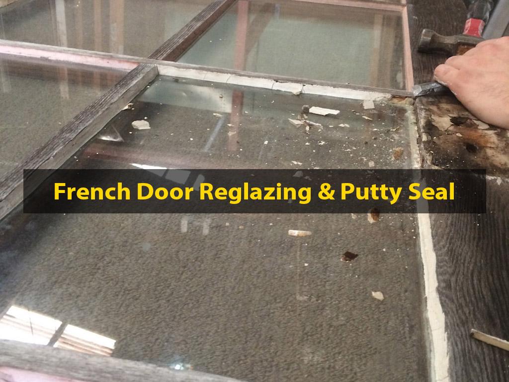Cedar French Door Restoration, French Door, French Doors, French Door Reglazing, Reglazing, No. 8 Building Recyclers, Building Recycler, Wellington, Restore, Restoration, Reclaimed, Reglazing, Putty Reseal