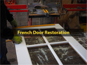 French Door Restoration, Trimming, Extending, French Door, Door Repair, Door Restoration, Glass Replacement, Reglaze, No. 8 Building Recyclers, Wellington