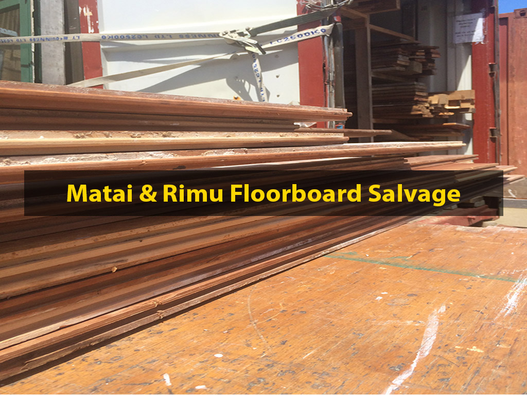 Flooring Retrieval, Flooring Restoration, Matai & Rimu, No. 8 Building Recyclers, Wellington