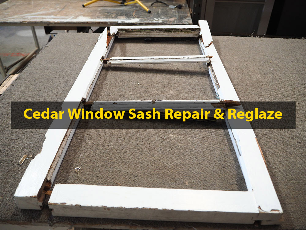 Cedar Window Sash Repair & Reglaze, No. 8 Building Recyclers, Wellington, Sash Repair, Retrofit, Reglaze