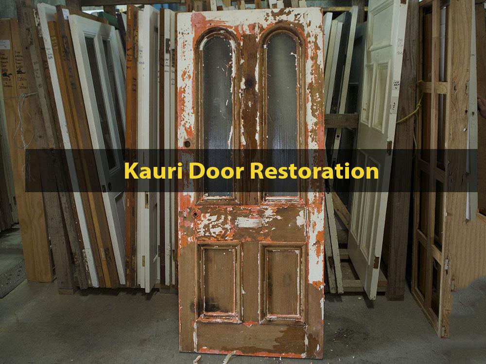 Kauri Door Restoration, Dip Stripping, Window Replacement, Glazing, Door Repair, Door Restoration, No. 8 Building Recyclers, Wellington
