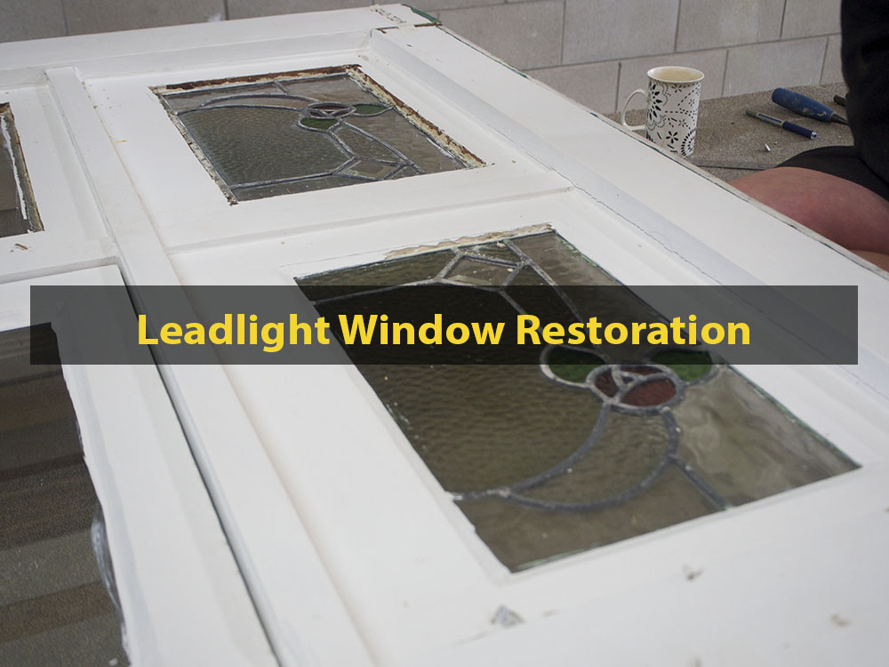 Leadlight Window Restoration, Leadlight, Window Repair, No. 8 Building Recyclers, Wellington