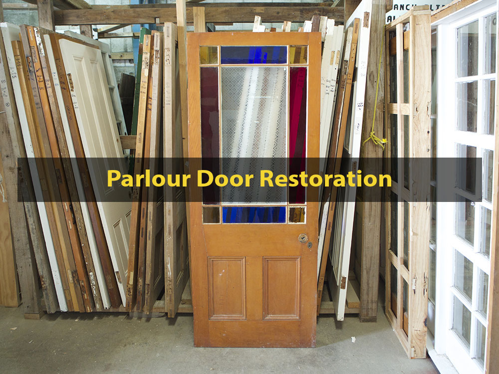 Parlour Door Restoration, Door Repair, Door Restoration, Stained Glass, No. 8 Building Recyclers, Wellington