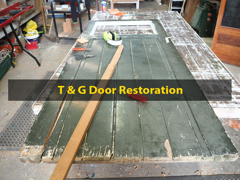 T & G Door Restoration, Door Repair and Restoration, No. 8 Building Recyclers, Wellington, Rot Repair, Lock Mechanism Replacement, Hinge Swap