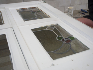No. 8 Building Recyclers, Wellington, Leadlight Window Restoration, Putty Repair