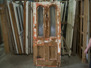 Kauri Door Restoration, No. 8 Building Recyclers, Wellington, Window and Door Repair