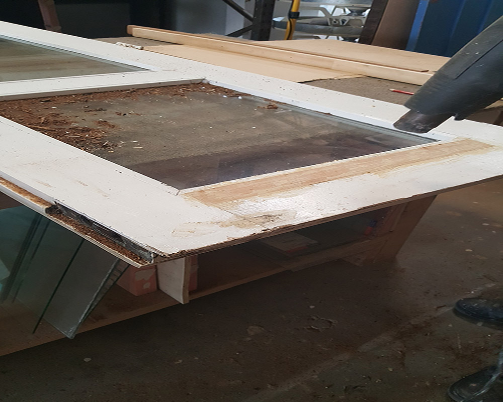 Double Glazed, Rot Repair, Rot Removal, French Door, Door Repair, French Door Restoration, No. 8 Building Recyclers, Wellington
