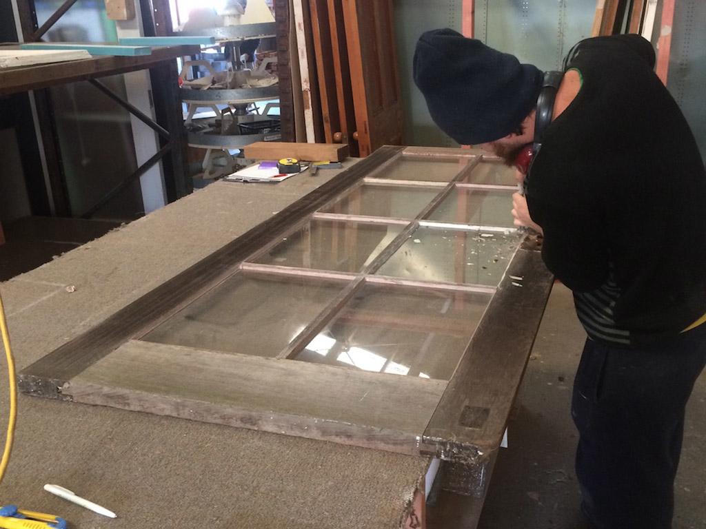 Cedar French Door Restoration, French Door, French Doors, French Door Reglazing, Reglazing, No. 8 Building Recyclers, Building Recycler, Wellington, Restore, Restoration, Reclaimed